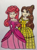 Disney Tribute - Ariel and Belle by Greg-vs-TheWorld