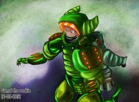 Nielo - Green F.O.G Hard-suit - + Animation! by Gamal-the-rookie