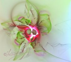 Fuschia Flower Fractal by Mozisart
