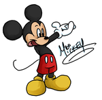 simply, mickey mouse by Purp1eDragon
