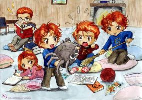 Chibi Weasleys by Alkanet