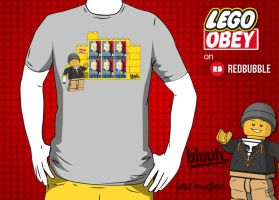 Lego Obey by TheArtofBlouh