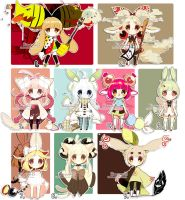 Adopts: Misc SET CLOSED by Hinausa