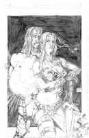 Thor and Valkyrie pinup by fragcomics
