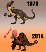 Deinocheirus mirificus over the years by ZeWqt