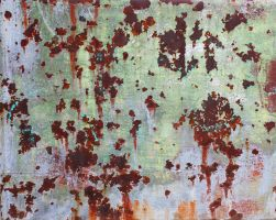 Rusting Painted Metal by GreenEyezz-stock