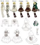 Scouting Legion Lolita-Inspired Uniform Stylesheet by PhantomMarbles