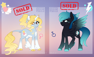 sky themed pony adopts - CLOSED by frostedpuffs