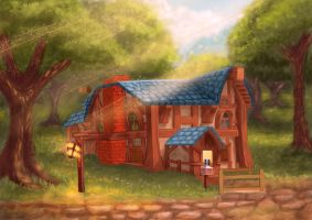 Goldshire. Tavern by Willborg