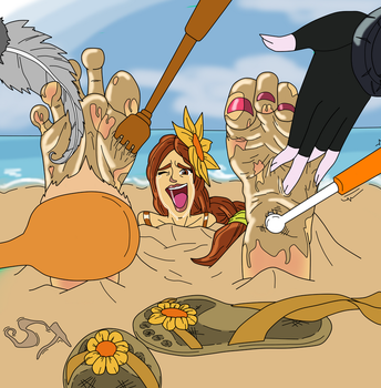 [Request] Beach fun with Leona by SymbionTickles