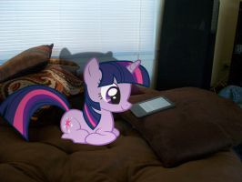 Twilight Reading a Kindle by DestructoDash
