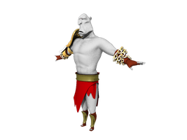 3d Cartoony Kratos WIP by MAGAM88
