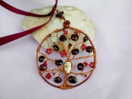 Tree pendant with owls by Mirtus63