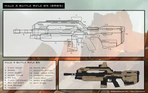 Blue Print: Halo 4 Battle Rifle (Airsoft M4 AEG) by Stoops-a