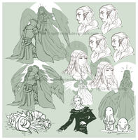 Roan and Hylia Sketches by Split-Heart