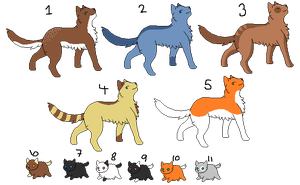 Warrior Cat Adopts~! {OPEN} by SNlCKERS