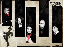 My Chemical Romance Wallpaer by RoboInvisaBunny