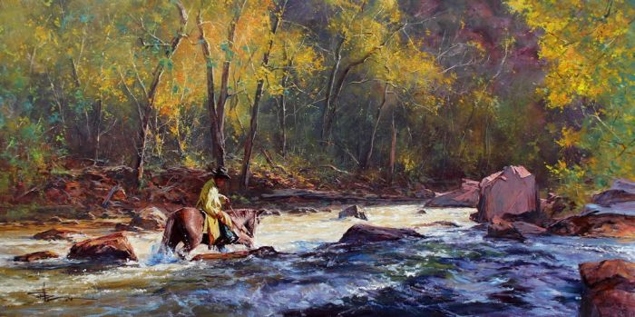 'The Crossing' - Oil On Canvas by Robert Hagan by robert-hagan
