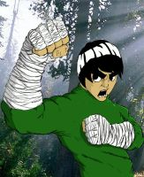 Rock Lee in the woods by DominicanFlavor