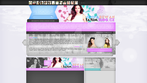 Ordered layout with Jenna Dewan Tatum by redesignbea