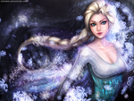 :: Elsa the Snow Queen Wallpaper :: by Sangrde
