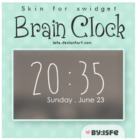 Skin for xwidget Brain Clock by Isfe