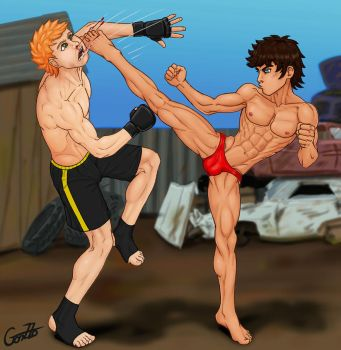 The counter kick. by GonZZoArt