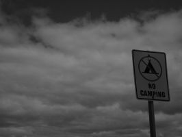 No camping here by Lysalle