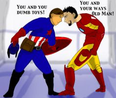 Avengers- Butting Heads by Mister-23