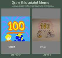 100 Deviations (Before and After Meme) by Aaronicus