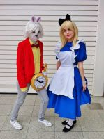 Alice and The White Rabbit by IdiotsInWigs
