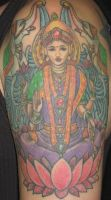 goddess half sleeve by evldemon