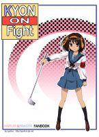 Doujin cover: KYON ON FIGHT by zpolice
