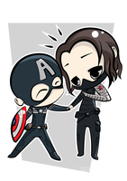 Captain America and The Winter Soldier by winter-kareki