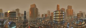 City in smog by kronpano