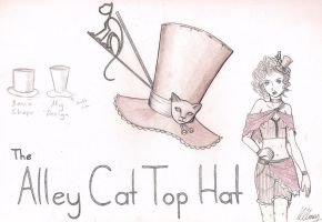The Alley Cat Top Hat by amurderofcrowws