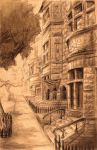 city street sketch by antonio-panderas