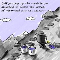 Jeff up the mountain by daimwn
