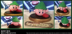 Kirby Link Sculpture Super Smash Brothers by NerdEcrafter