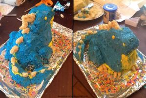 Wizard101 - 3D Stormzilla Cake by HesperCambrie
