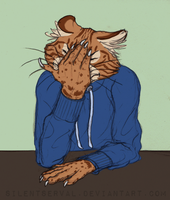 Facepalm Cat by SilentServal