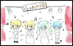 Vocaloid Choir by aikaaa
