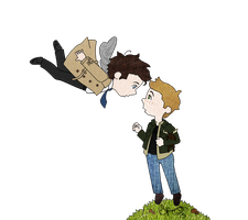 Dean And Cas by eggsnyost