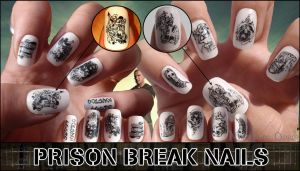 Prison break nails by JawsOfKita-LoveHim