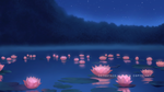 Water lilies at night by GothicIchigo