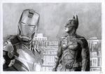 Ironman and Batman by ViolaLucien