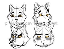 Aluf Character Concept- Headshots by pinkykyra