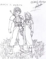 Zack_and_Aerith-CrisisCore by PeitchKinomiya