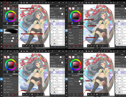 MediBang Paint Tablet iPad brush panel guide by medibangadmin