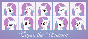 MLP OC Faces - Topaz by outlaw4rc